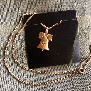 Jewelry - Vintage Liberty Bell Necklace